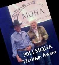 2014 MQHA Heritage Award Larry and Nancy Lewis