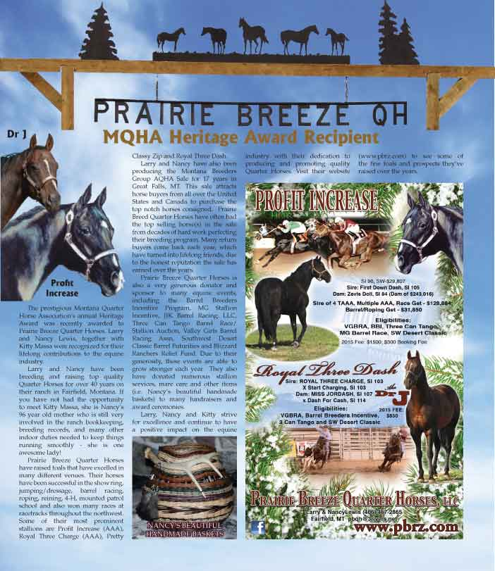 used with permission The WRANGLER, Horse and Rodeo News Jan 2015